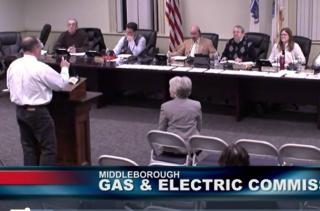 Commission meeting speaker addresses the board