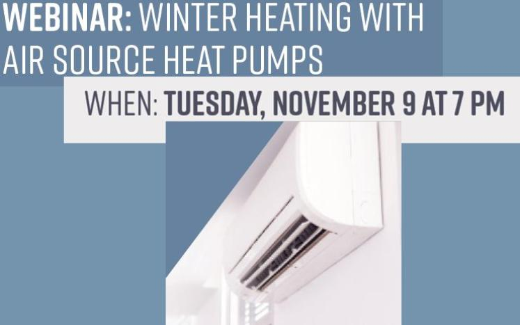 Use Your Heat pump Minisplit this winter with this webinar